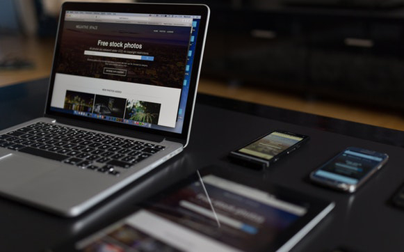 Iphone Ipad Macbook on a table